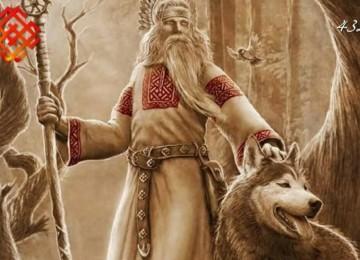 Славянский бог Велес и 2 варианта оберега печать Велеса – Медвежья лапа и лапа Волка